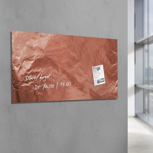 Glas-Magnetboard artverum 910x460x15mm Design Pure-Copper inkl. Magnete Sigel GL269 Produktbild Additional View 5 L