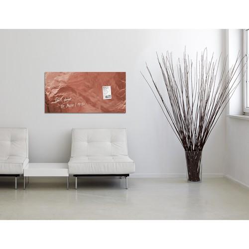 Glas-Magnetboard artverum 910x460x15mm Design Pure-Copper inkl. Magnete Sigel GL269 Produktbild Additional View 7 L