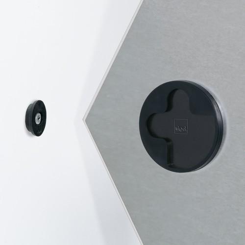Glas-Magnetboard artverum 400x460x15mm Sechseck Smoky-Green inkl. Magnete Sigel GL281 Produktbild Additional View 1 L