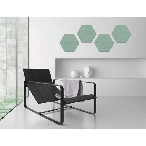 Glas-Magnetboard artverum 400x460x15mm Sechseck Smoky-Green inkl. Magnete Sigel GL281 Produktbild Additional View 7 L