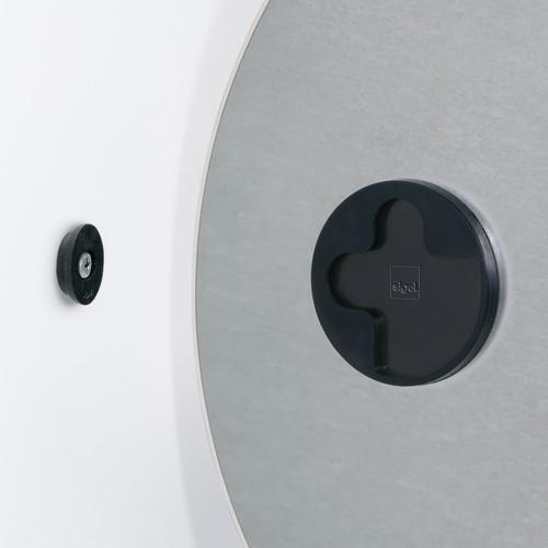 Glas-Magnetboard artverum Ø400mm Kreis Smoky-Grey inkl. Magnete Sigel GL290 Produktbild Additional View 1 L