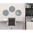 Glas-Magnetboard artverum Ø400mm Kreis Smoky-Grey inkl. Magnete Sigel GL290 Produktbild Additional View 6 S
