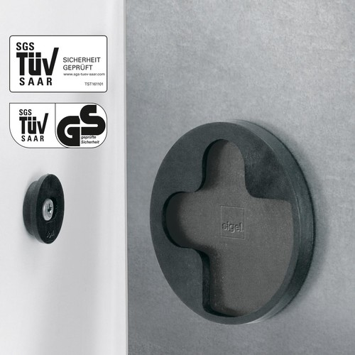Glas-Magnetboard artverum 480x480x15mm Design Pure-Copper inkl. Magnete Sigel GL265 Produktbild Additional View 1 L