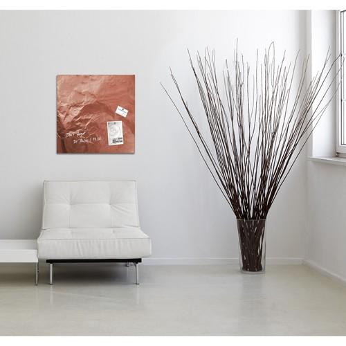 Glas-Magnetboard artverum 480x480x15mm Design Pure-Copper inkl. Magnete Sigel GL265 Produktbild Additional View 6 L