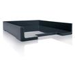 Briefablage eyestyle A4 268x50x333mm dunkelgrau/schwarz High-Gloss ABS- Kunststoff Sigel SA167 Produktbild