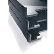 Briefablage eyestyle A4 268x50x333mm dunkelgrau/schwarz High-Gloss ABS- Kunststoff Sigel SA167 Produktbild Additional View 5 S