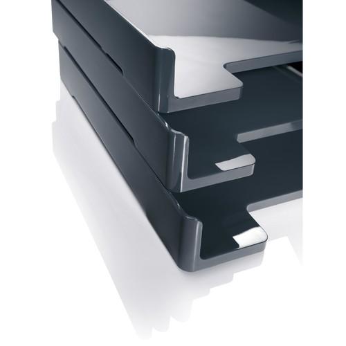 Briefablage eyestyle A4 268x50x333mm dunkelgrau/schwarz High-Gloss ABS- Kunststoff Sigel SA167 Produktbild Additional View 5 L