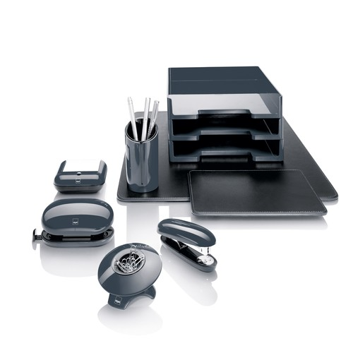 Briefablage eyestyle A4 268x50x333mm dunkelgrau/schwarz High-Gloss ABS- Kunststoff Sigel SA167 Produktbild Additional View 4 L