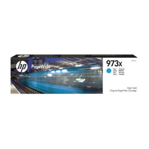Tintenpatrone 973X für HP PageWide Pro 450 85,5ml cyan HP F6T81AE Produktbild Front View L