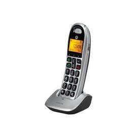 Motorola CD301 - Schnurlostelefon mit Rufnummernanzeige - DECT\GAP - Silver/Black Produktbild