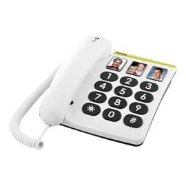 DORO PhoneEasy 331ph - Telefon mit Schnur - Grau, weiß Produktbild