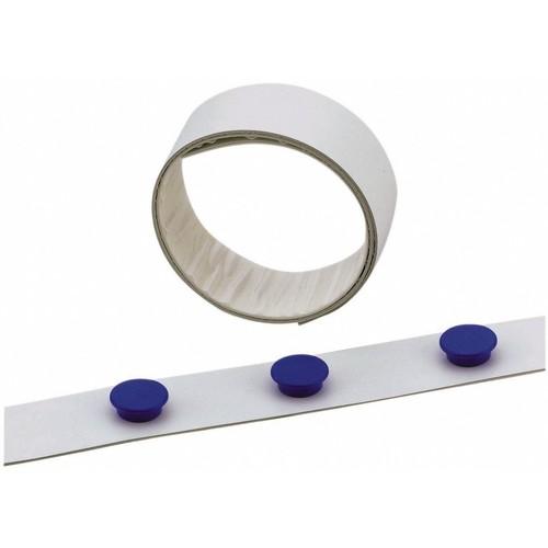 Magnetband 5m x 35mm weiß selbstklebend Durable 4715-02 Produktbild Front View L