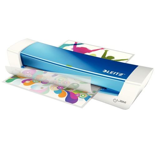 Laminiergerät iLam Home Office bis A4 bis 125µ blau metallic Leitz 7368-00-36 Produktbild Additional View 1 L