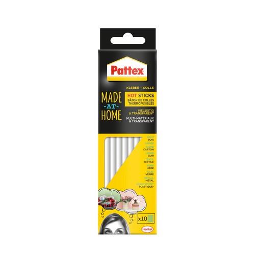 Hot Sticks Klebestifte für Klebepistole Durchmesser 11mm Pattex 9H PMHHS (PACK=10 STÜCK) Produktbild Front View L