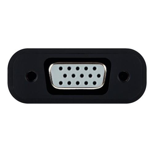 DisplayPort Adapter Mini DisplayPort auf VGA schwarz Leitz 6309-00-95 Produktbild Additional View 3 L