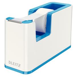 Tischabroller WOW Duo Colour befüllbar bis 19mm x 33m weiß/blau metallic Leitz 5364-10-36 Produktbild