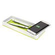 Stifteschale WOW Duo Colour mit Induktionsladegerät weiß/grün metallic Leitz 5365-10-64 Produktbild Additional View 1 S
