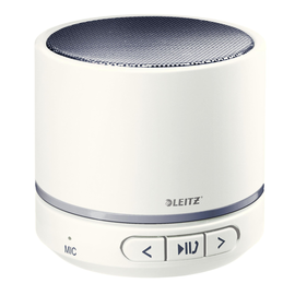Bluetooth Lautsprecher WOW Mini Mobile weiß/grau Leitz 6358-10-01 Produktbild
