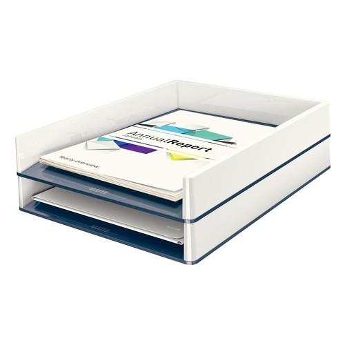 Briefkorb WOW Duo Colour für A4 267x49x336mm weiß/grau Kunststoff Leitz 5361-10-01 Produktbild Additional View 1 L