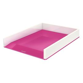 Briefkorb WOW Duo Colour für A4 267x49x336mm weiß/pink metallic Kunststoff Leitz 5361-10-23 Produktbild