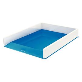 Briefkorb WOW Duo Colour für A4 267x49x336mm weiß/blau metallic Kunststoff Leitz 5361-10-36 Produktbild