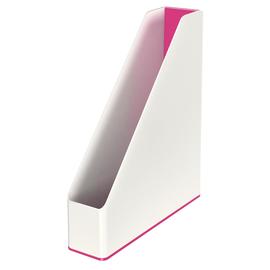 Stehsammler WOW Duo Colour 73x318x272mm weiß/pink metallic Kunststoff Leitz 5362-10-23 Produktbild