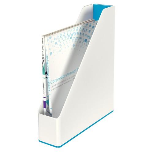 Stehsammler WOW Duo Colour 73x318x272mm weiß/blau metallic Kunststoff Leitz 5362-10-36 Produktbild Additional View 1 L