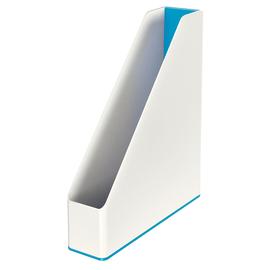 Stehsammler WOW Duo Colour 73x318x272mm weiß/blau metallic Kunststoff Leitz 5362-10-36 Produktbild