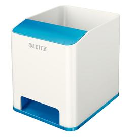 Stiftehalter WOW Duo Colour weiß/blau metallic Kunststoff Leitz 5363-10-36 Produktbild
