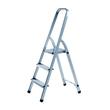 Haushaltsleiter 3-stufig ohne Rollen 125cm hoch silber Aluminium Alco 8892 Produktbild