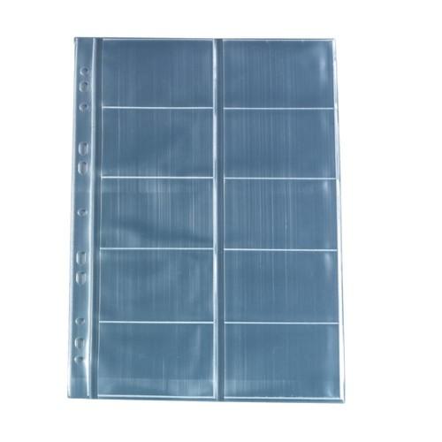 Visitenkartenhüllen A4 für 100Karten glasklar PP Herlitz 5894209 (PACK=10 STÜCK) Produktbild