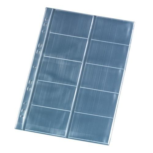Visitenkartenhüllen A4 für 100Karten glasklar PP Herlitz 5894209 (PACK=10 STÜCK) Produktbild Additional View 1 L