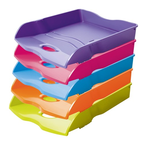 Briefkorb LOOP für A4 259x63x351mm Trend Colour pink Kunststoff HAN 10290-56 Produktbild Additional View 2 L