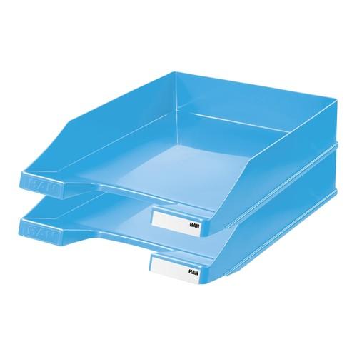 Briefkorb Standard für A4 243x57x335mm Trend Colour hellblau Kunststoff HAN 1027-X-54 Produktbild Additional View 1 L