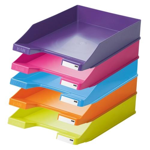 Briefkorb Standard für A4 243x57x335mm Trend Colour pink Kunststoff HAN 1027-X-56 Produktbild Additional View 2 L