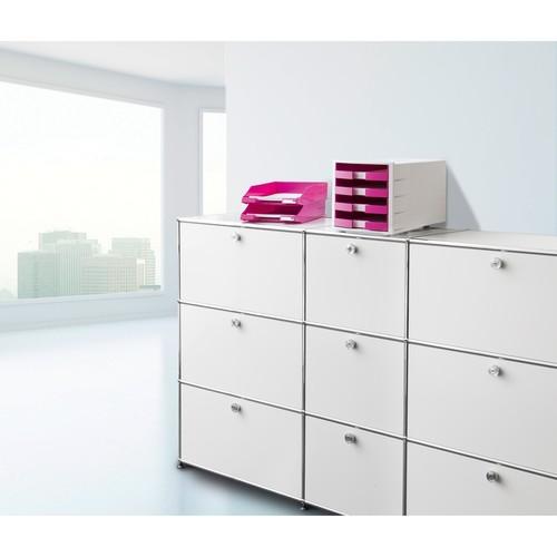 Briefkorb Standard für A4 243x57x335mm Trend Colour pink Kunststoff HAN 1027-X-56 Produktbild Additional View 5 L
