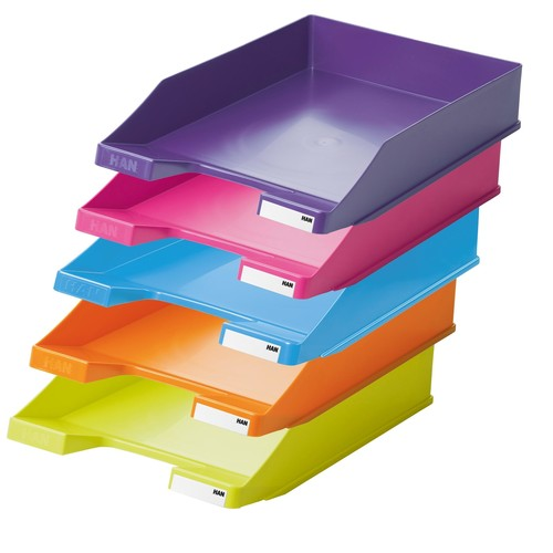 Briefkorb Standard für A4 243x57x335mm Trend Colour pink Kunststoff HAN 1027-X-56 Produktbild Additional View 3 L