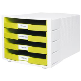 Schubladenbox IMPULS 4 Schübe offen 294x235x368mm Gehäuse weiß Schübe Trendcolour lemon HAN 1011-X-50 Produktbild