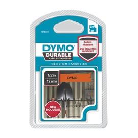Schriftband D1 12mmx3m schwarz/orange permanent Vinyl Dymo 1978367 Produktbild