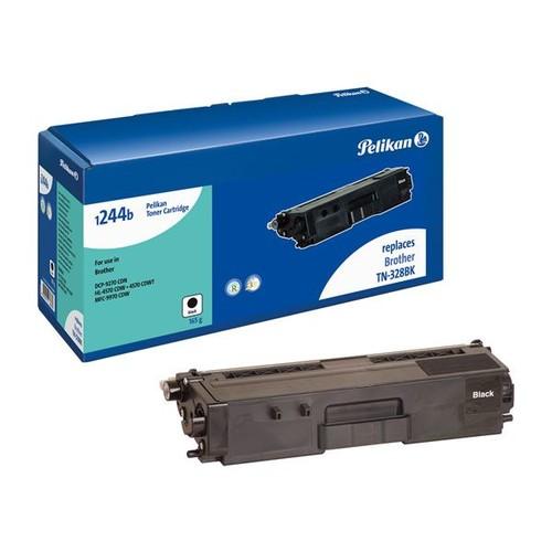 Toner Gr. 1244b (TN-328BK) für HL-4570CDW/MFC-9970CDW 6000 Seiten schwarz Pelikan 4236883 Produktbild Front View L