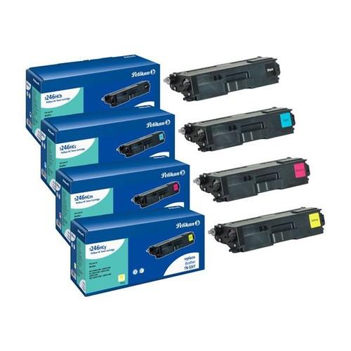 Toner PromoPack Gr. 1246 (TN-326BK/C/M/Y) für DCP-L8400CDN 4000 Seiten BK/3500 Seiten C/M/Y Pelikan Produktbild Front View L