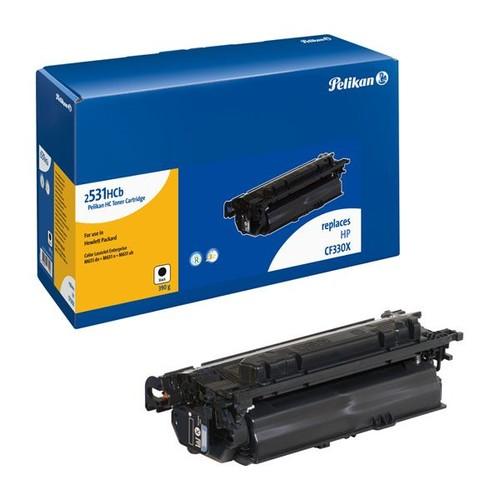 Toner Gr. 2531HCb (CF330X) für Color LaserJet Enterprise M650/M651 20500 Seiten schwarz Pelikan 4237057 Produktbild Front View L