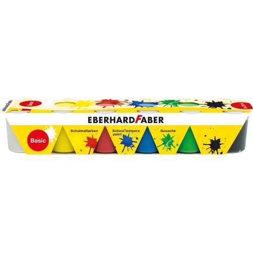 Temperafarbe basic je 25ml farbig sortiert Eberhard Faber 575509 (PACK=6 STÜCK) Produktbild Front View L