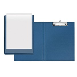 Präsentationsclipboard Velodur mit Einstecktasche A4 Überbreite Metallklammer PP blau Veloflex 4804650 Produktbild