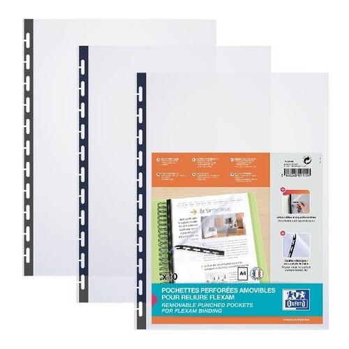 Prospekthüllen Oxford Flexam A4 mit Vario-Zipp transparent 100206999 (BTL=10 STÜCK) Produktbild Front View L