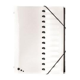 Ordnungsmappe Art STUDIO mit mit Gummizug A4 mit 12 Fächern weiß PP Elba 400068818 Produktbild