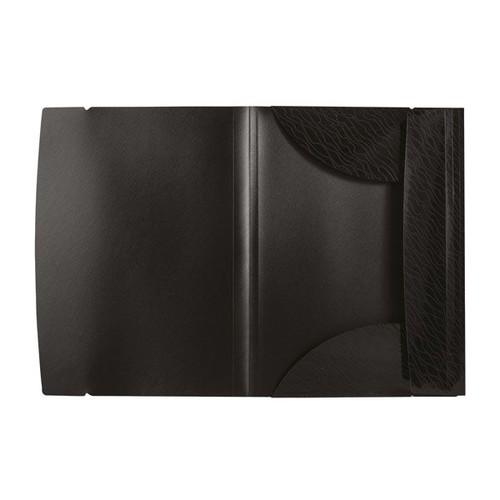 Sammelmappe Art STUDIO mit 3 Klappen und Gummizug A4 schwarz PP Elba 400068811 Produktbild Additional View 1 L