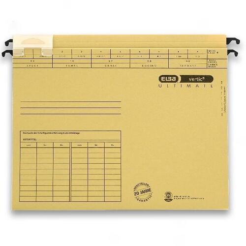 Hängesammler vertic ULTIMATE Hartpappeboden 20mm naturbraun Elba 100570015 (PACK=25 STÜCK) Produktbild