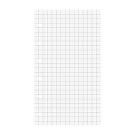 Ringbucheinlagen gelocht 7,4x12,8cm kariert weiß Brunnen 10-6600201 (PACK=50 BLATT) Produktbild