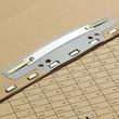 Einhänge-Heftstreifen kurz mit Kunststoff-Deckschiene 150x37mm grau PVC Elba 100551905 (PACK=25 STÜCK) Produktbild